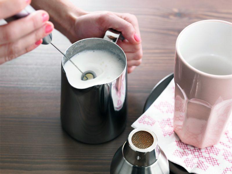 cara buat foam susu manual