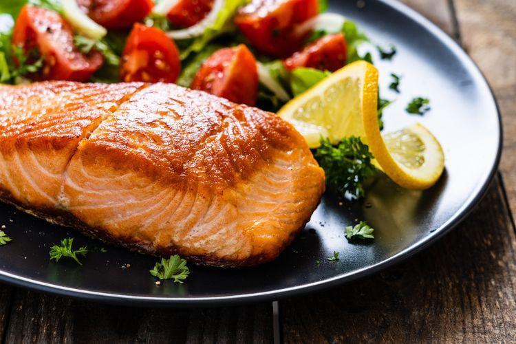 olahan ikan salmon