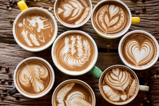 membuat ice coffee latte